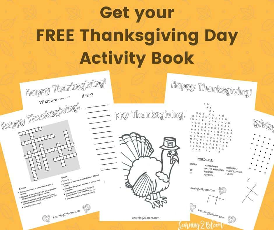 thanksgiving day activity book learning2bloom